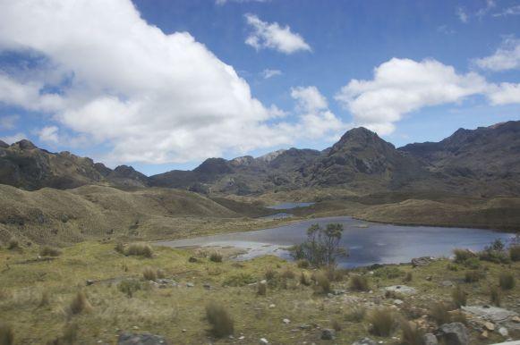 Alvast een blik op Cajas national park, waar we de volgende dag naar terug zul keren om het echt te bezoeken.