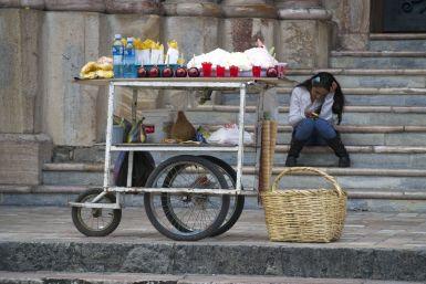 straatverkoopster in Cuenca