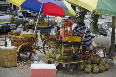 Kokosnoten verkoop, Bahía de Caráquez.