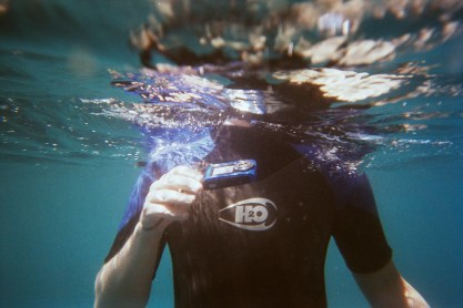 onder water spot ik een heuse Jurjan