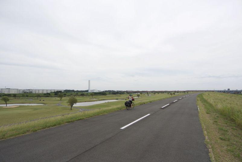 Het breedste fietspad dat we zijn tegengekomen!