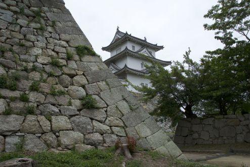 Het kasteel in Akashi.