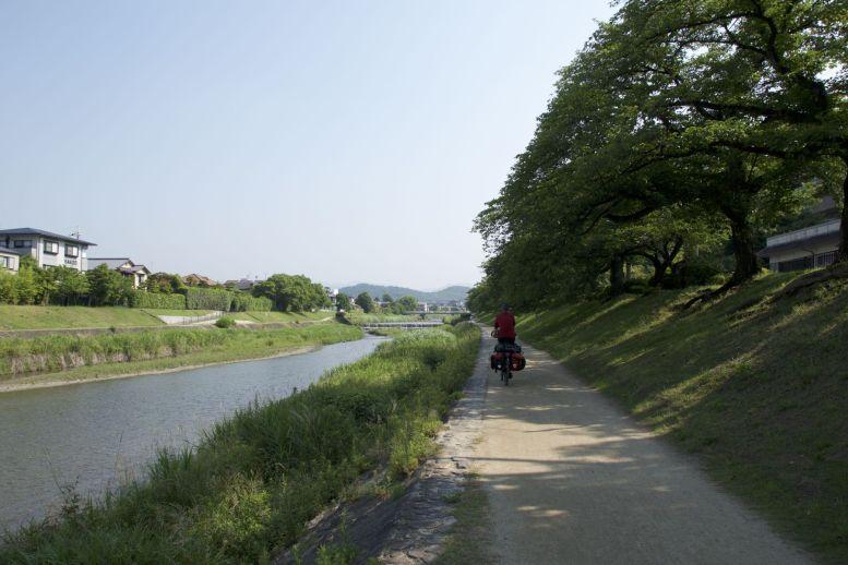 Dit is wel een van de beste manieren om een stad uit te fietsen.