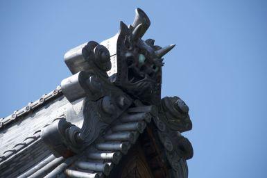 Tempel in de historische wijk van Takehara