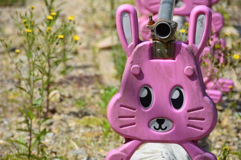 roze konijnen, kawaii wegwerkzaamheden in Japan