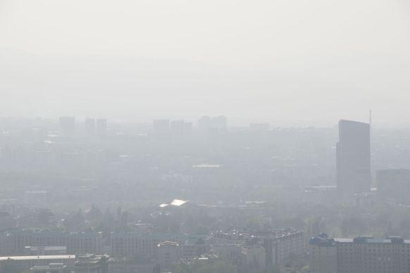 Almaty is flink in smog gehuld.
