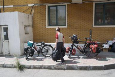 om een uur of één zijn we er klaar voor: het fietsen kan beginnen!