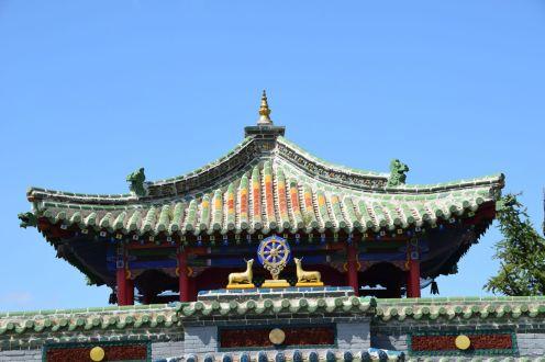 Een van de vele kleurrijke gebouwen.