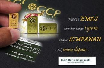 gold bar 1 gram gcp