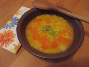Hirse-Kürbis-Suppe