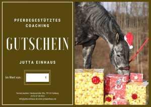 Gutschein für Pferdegestütztes Coaching bei Jutta Einhaus