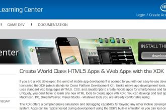 Intel Developer Zone HTML5 Juuchini screenshot
