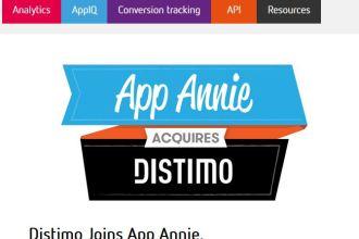 APP ANNIE ACQUIRES DISTIMO JUUCHINI