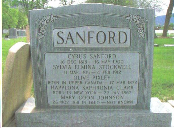 sanford headstone