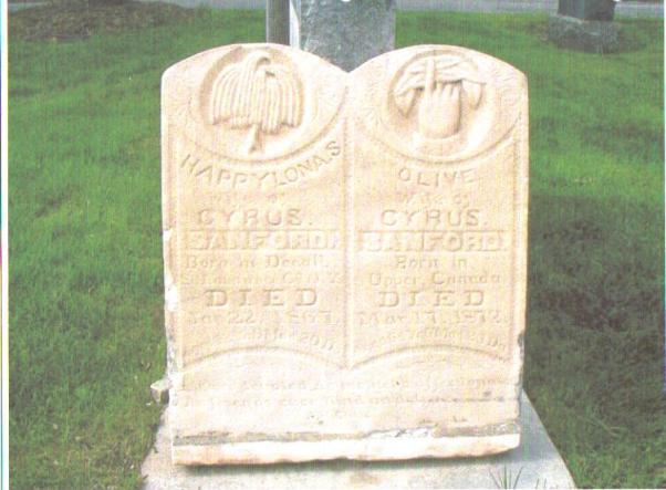 sanford wives headstone