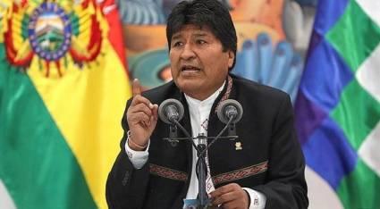 President of Bolivia, Evo Morales.