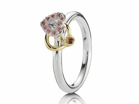 PANDORA 190844RHL  Herz der Liebe  Ring Gr 56  bicolor