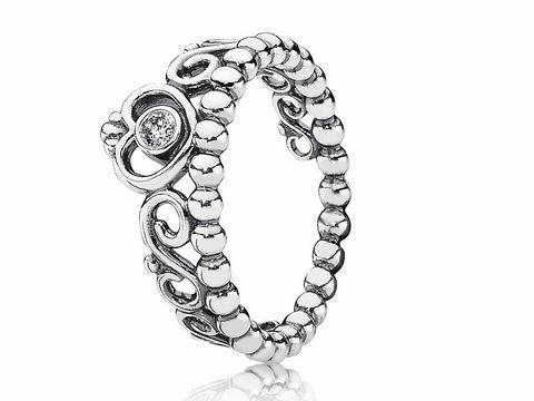 PANDORA 190880CZ52 Silber Ring  Herz Diadem  Tiara