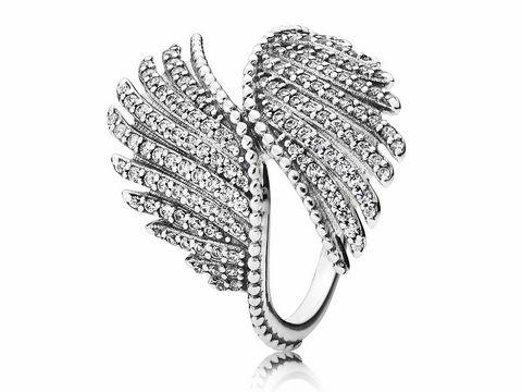 PANDORA 190960CZ56  Schimmernde Phoenixfeder Silber