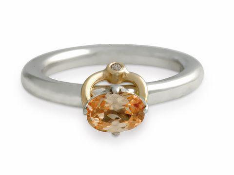 PANDORA Ring 190833CCZ  bicolor  Brillant  Gr 5217