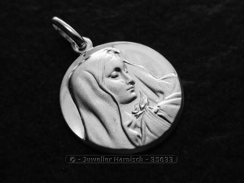 Anhnger heilige Madonna Sterling Silber  19 mm Maria 35633