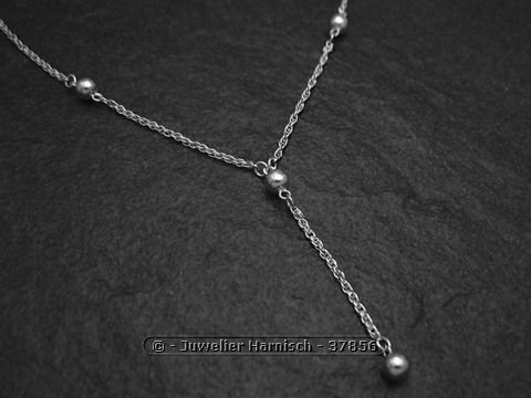 Y Kette Kugeln Sterling Silber modisch 37856