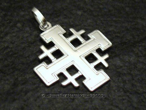 Jerusalemkreuz  griechisches Kreuz 925 Silber Anhnger 39605
