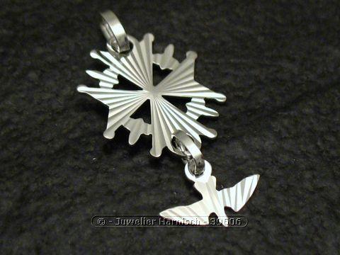 Franzsisches Hugenottenkreuz Sterling Silber Anhnger 39606