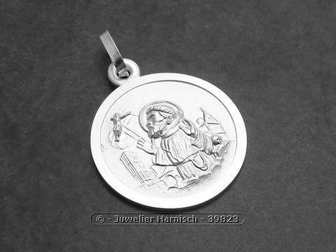 Heiliger Franziskus  Franz von Assisi Sterling Silber