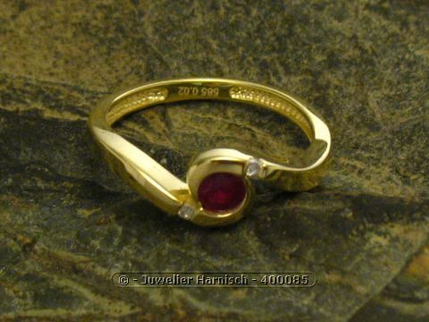 Ring DESIGN  Gold 585 Gr 6019 Diamant  Rubin 400085