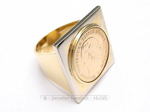 Gold 585 14 Karat Gold Ring Mnzring Mnze bicolor 40100