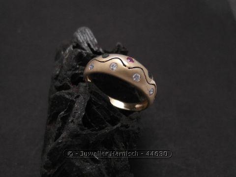 Gold Ring Gold 585 Zirkonia  Rubin  Smaragd  Saphir