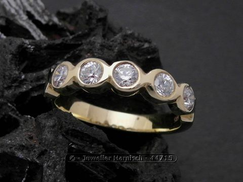 Gold Ring  reizend  Gold 585  Zirkonia  Goldring  Gr