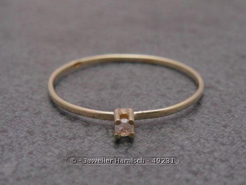 Gold Ring  filigran  Gold 585  Diamant  Goldring  Gr