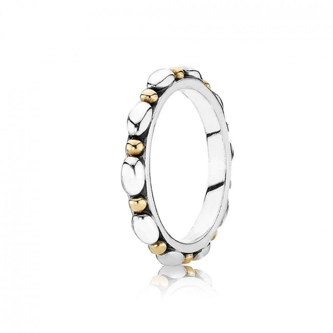 Pandora 190856 Bicolor Ring mit 14 K Gold
