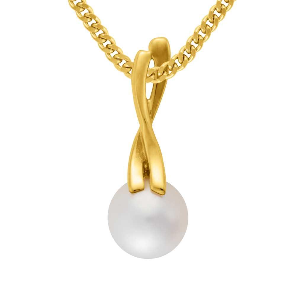 Gelbgold Anhnger Perle  Trauringe bei Juwelier