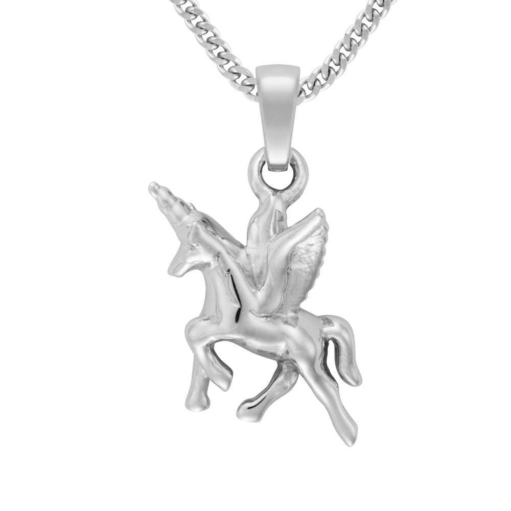 Silber Einhorn Anhnger  Trauringe bei Juwelier