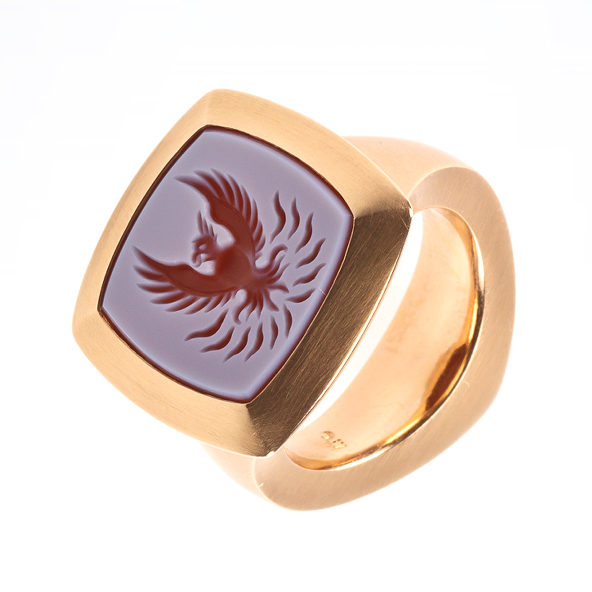 Petra Giers Ring Feuervogel 750 Rotgold  Goldschmiede