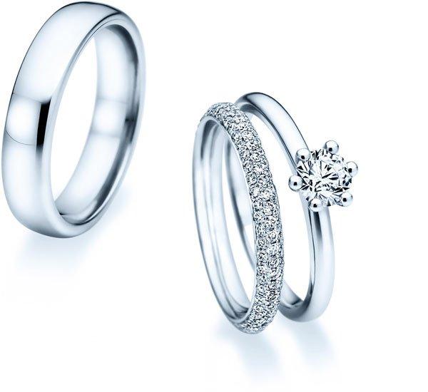 Vorsteckringe mit Diamant passend zum Ehering  JUWELIERde