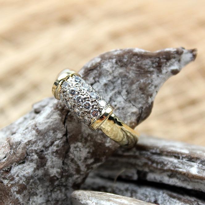 Juweliere Winter  Diamant Ring 750er GG WG