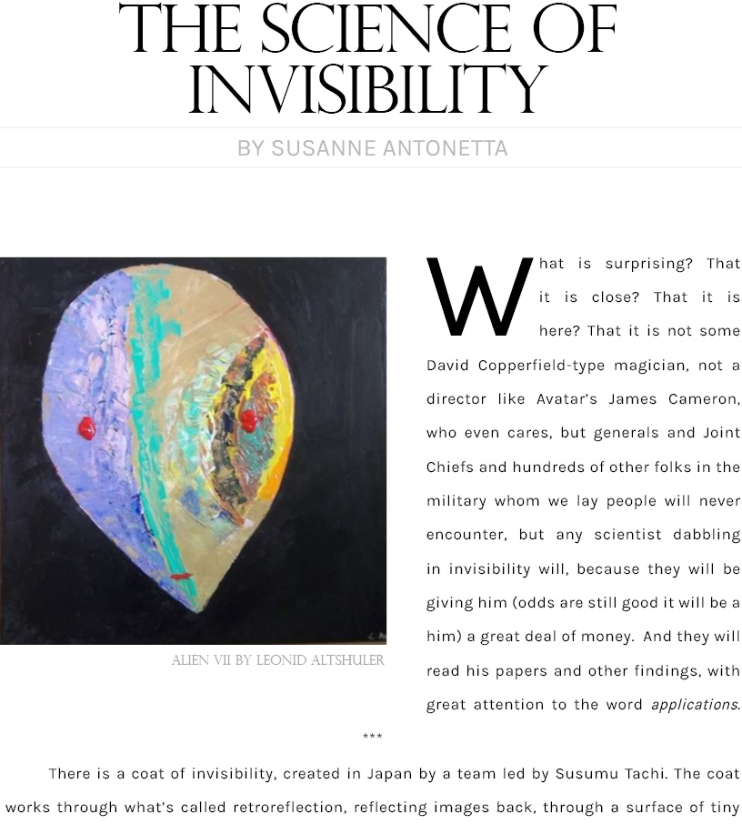 The Science of Invisibility by Antonetta