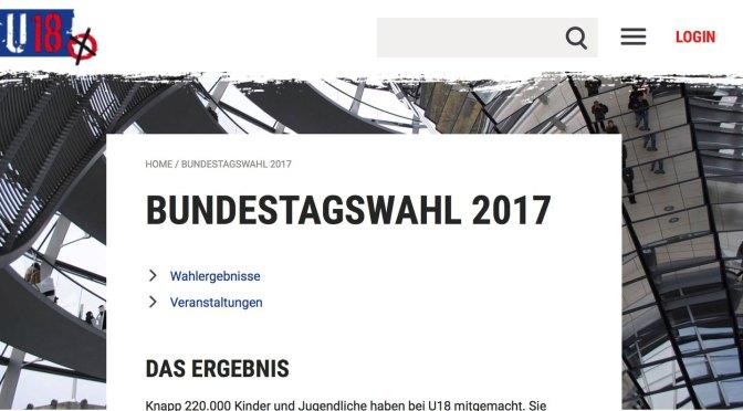 Ergebnisse der U18-Wahl 2017