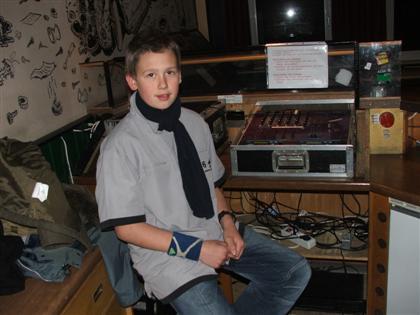 Manuel am DJ-Pult