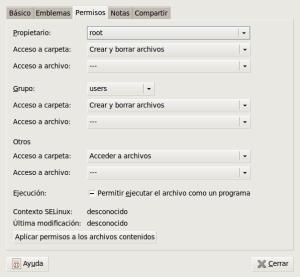 Propiedades de DatosLinux