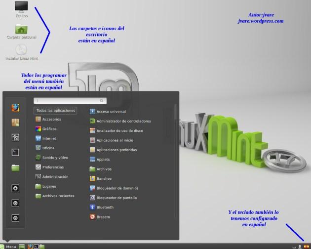 En español para instalar Linux Mint
