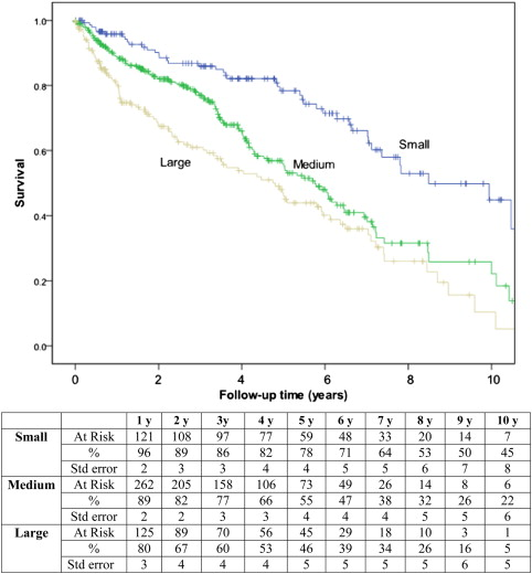 Comparison of outcomes following endovascular repair of