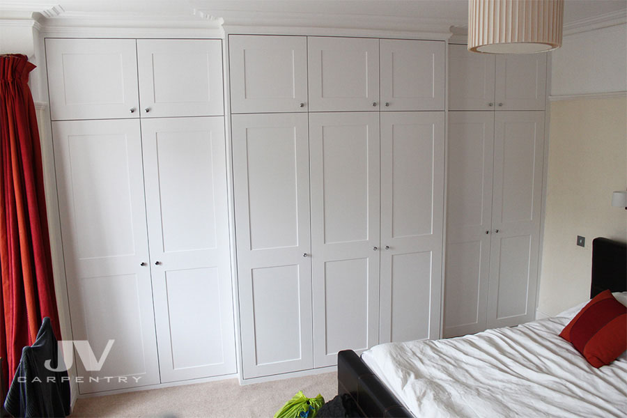 Fitted wardrobes bookshelves and Alcove cupboards top
