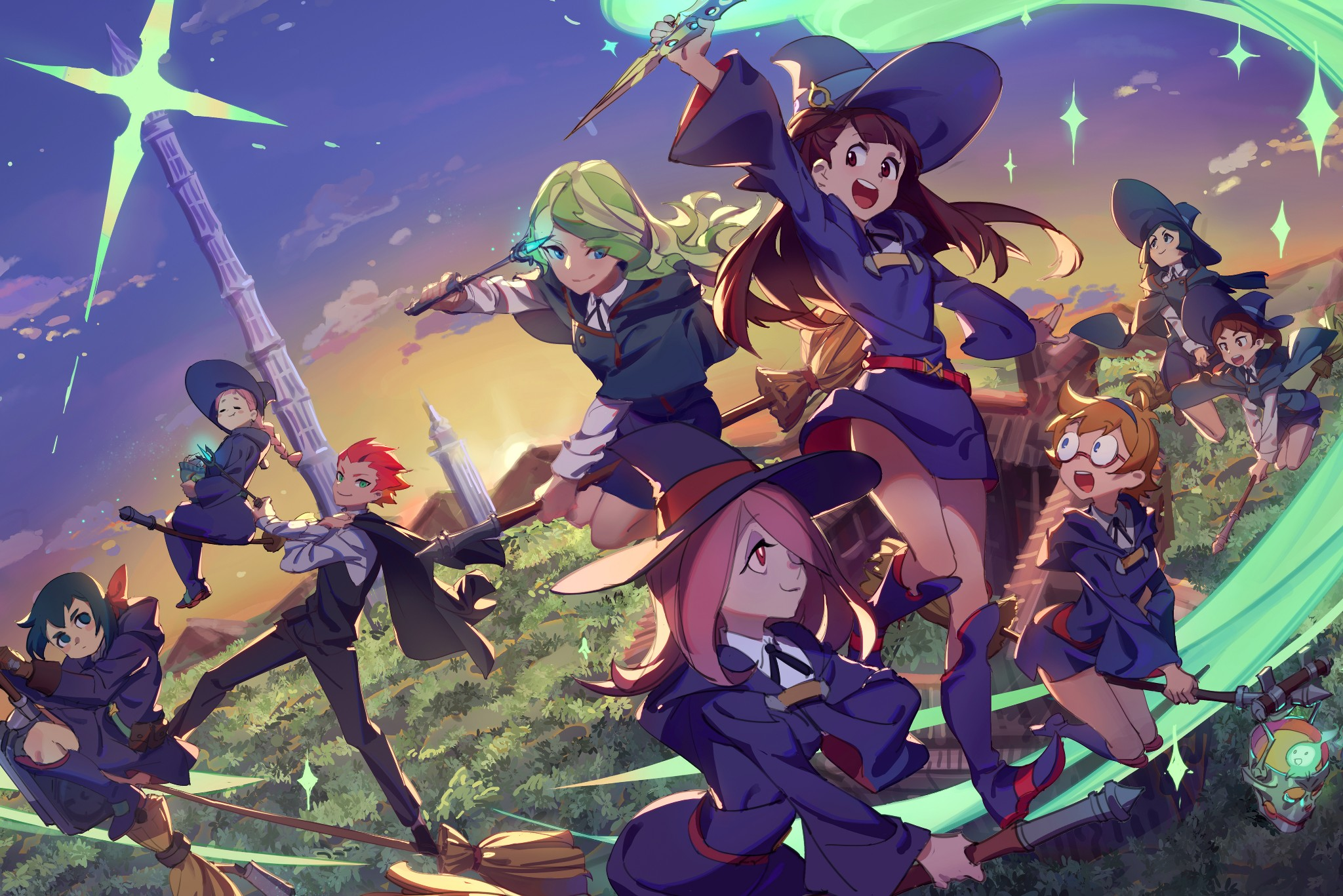L Double Monitor Girl Wallpapers Le Jeu Little Witch Academia Chamber Of Time Enfin Dat 233