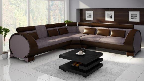 Ecksofa VIGO LT01 Eckcouch Couch Sofa Eckgarnitur Ledersofa Leder Textil Stoff  wwwJVmoebel