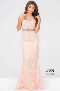 Cap sleeves beaded lace prom fit floor length pink and ...